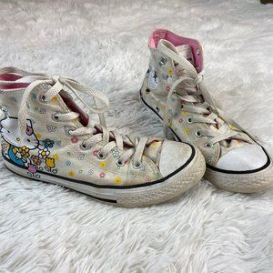 Hello Kitty High Top Converse Size 3